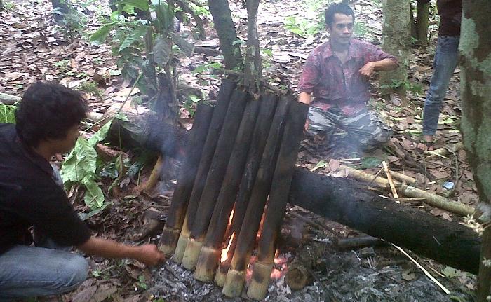 Traditional pork cooking